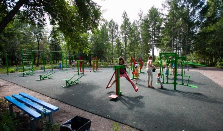 В Советском парке Омска достроили спортивный комплекс