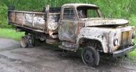 На трассе в Павлоградском районе сгорел грузовик ГАЗ омского «Продторга»