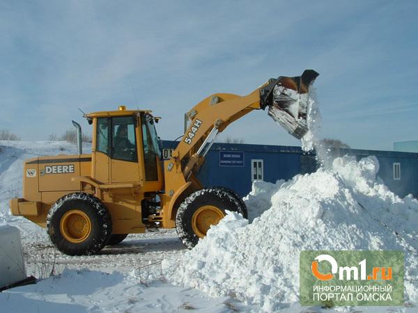 Дорожники в Омске будут мести снег даже в Новый год