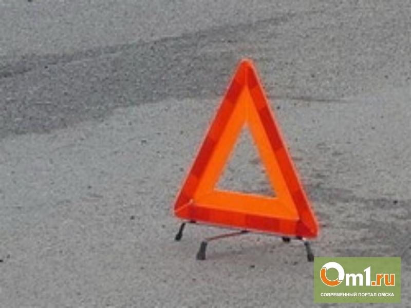 В Омске пьяный водитель врезался в автомобиль полицейского