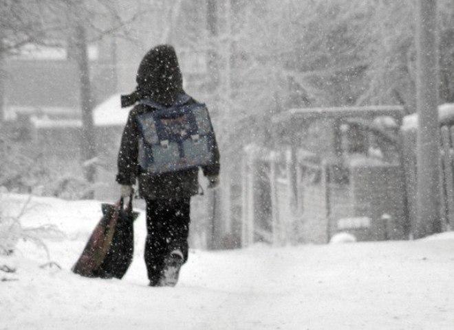 Омские школьники могут отсидеться дома во время морозов