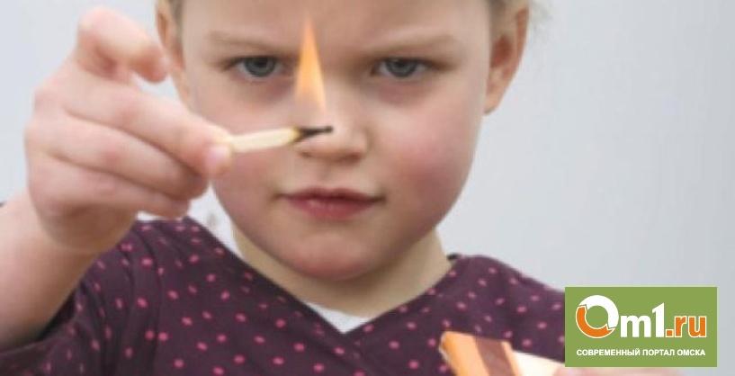 В Омской области пятилетняя девочка случайно подожгла сарай