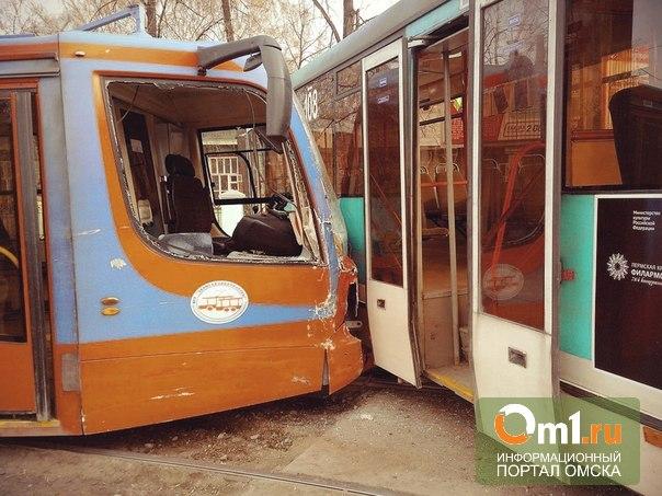 Редкая авария: в Перми столкнулись два трамвая