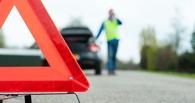 В Омской области опрокинулась Toyota — трое пострадали