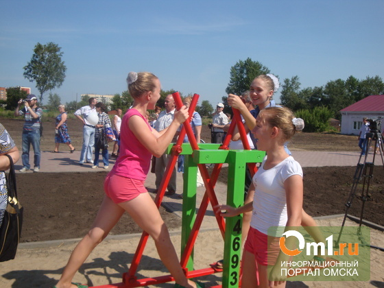 В Омске в Нефтяниках открыли новую спортплощадку