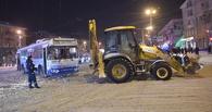 В Омске трактор и троллейбус спровоцировали огромную пробку