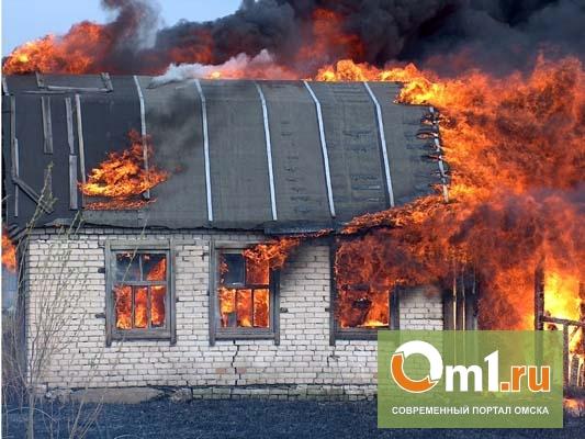 В Омской области в своем доме сгорел мужчина