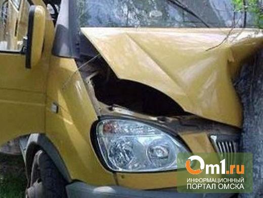 В Омске в результате столкновения пострадала пассажирка маршрутки