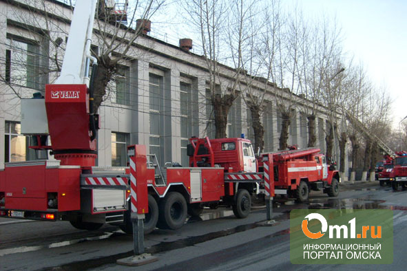 Пожар в омской «Красной гвардии» произошел из-за короткого замыкания