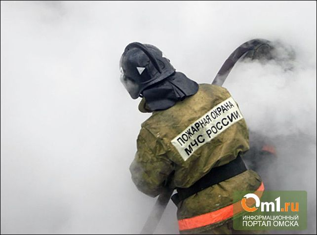 В Омске на пожаре в частном доме пострадал человек
