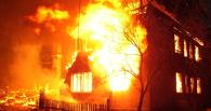 В подвале омской двухэтажки произошел пожар