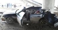 В Омске момент аварии у Телецентра запечатлели на видео