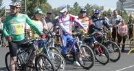 На «ВелоОмске» Расин и Тищенко прокатились вместе с омичами на экзотических велосипедах