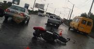 В Омске произошло очередное ДТП с участием мотоцикла