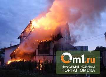 В Омске в коттедже рядом с ТЦ МЕГА сгорели два человека