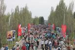 Омичи отметили 9 мая в парке Победы
