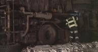 Под Омском перевернулся снегоуборочный «КамАЗ» (фото)