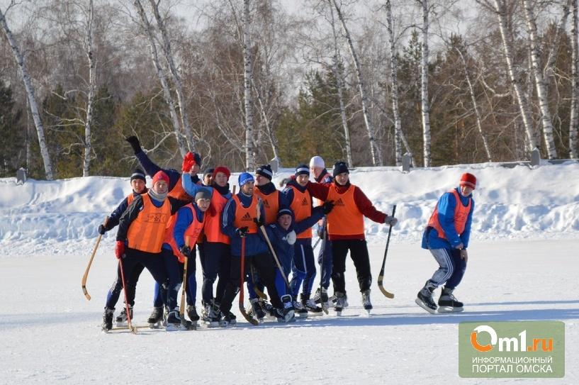 Футболисты «Иртыша» попробовали играть в хоккей