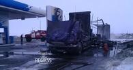На заправке под Омском дотла сгорела фура (фото)