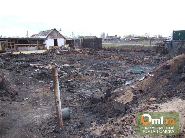 Омские полицейские расследуют причины пожара в Сосновке