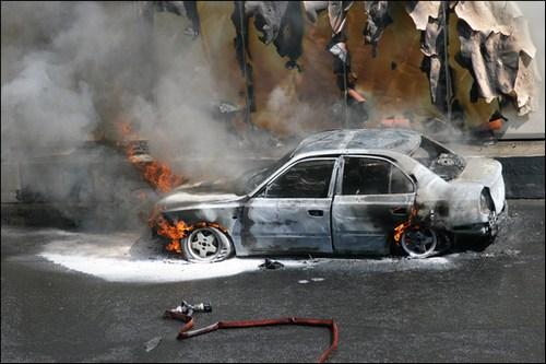 В Омске за ночь сгорели два автомобиля