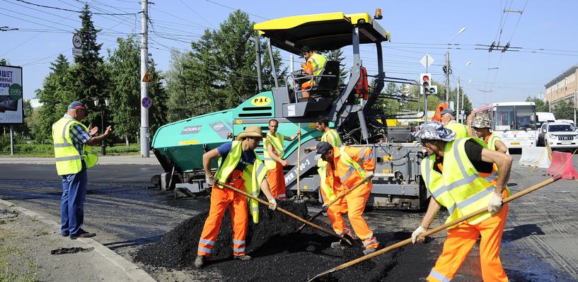 В Омске отремонтируют не менее миллиона квадратных метров дорог