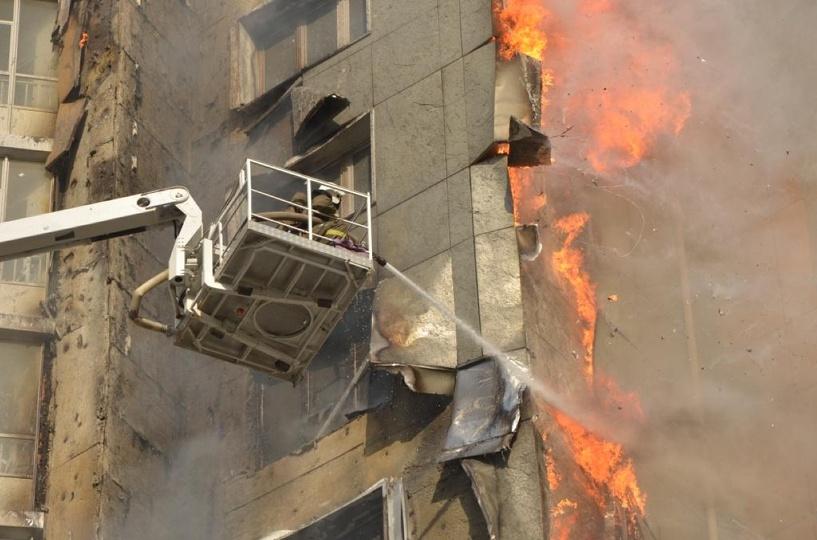 Сварка на балконе 25-этажки: установлена предварительная причина пожара в Красноярске