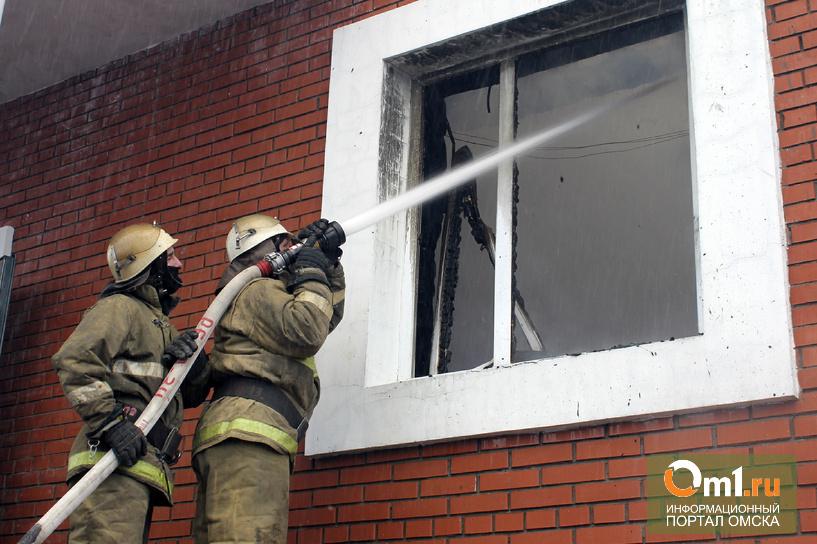 В Омске сгорел коттедж на 4-ой Северной