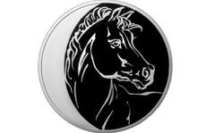 Банк России выпустил серебряную монету с изображением лошади