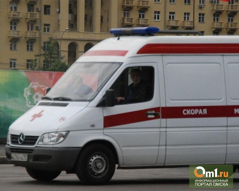 В Омске перевернулся на крышу полицейский автомобиль