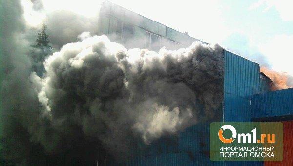 В Омске на 3-м разъезде горел склад промтоваров