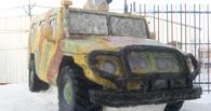 Омские заключенные вылепили из снега боевую машину «Тигр»