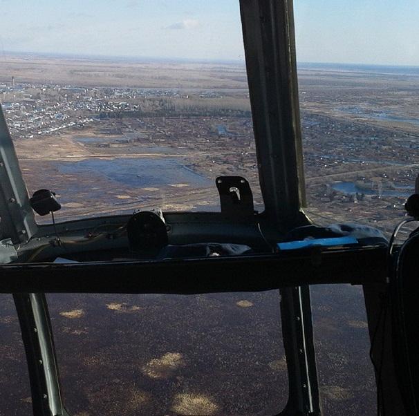 Виктор Назаров опубликовал фото затопленного севера Омской области
