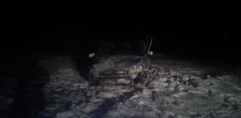 Пьяный водитель вылетел в кювет: трое пострадавших