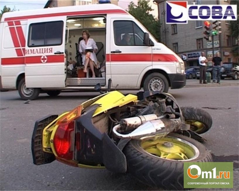 В Омске на 3-ей Енисейской Honda протаранила скутер