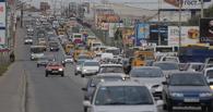 На улице Красный Путь из-за аварии образовалась большая пробка