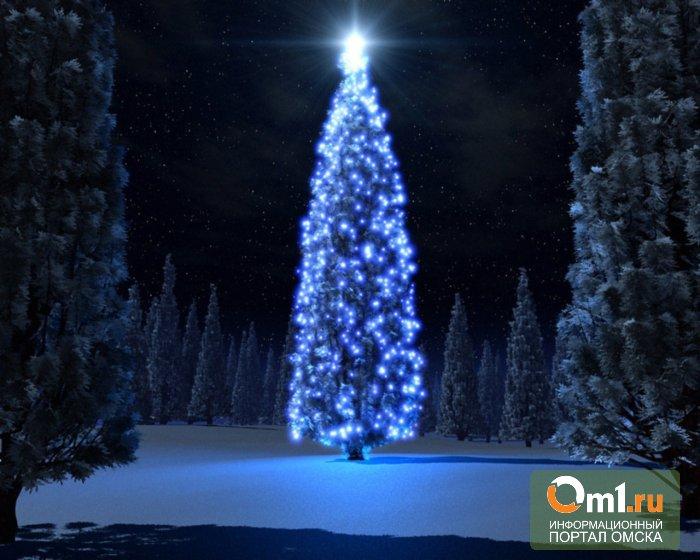 Завтра в Омске откроется главная городская елка