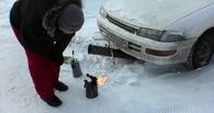 В Омске из-за подогрева в мороз горели сразу четыре авто и маршрутка