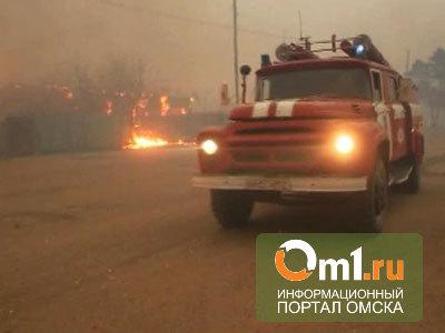 На пожаре в частном доме в омской деревне заживо сгорели двое