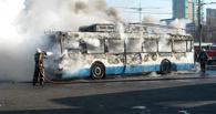 В Омске сгорел очередной троллейбус