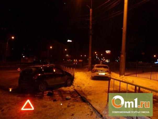 В Омске День защитника Отечества закончился двумя серьезными ДТП