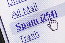 От судебных приставов приходит спам