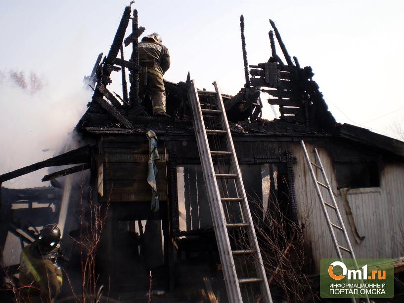 В Пасху в Омске сгорело 2 дома