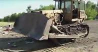 В Татарстане 10 человек и бульдозер целый день уничтожали трех санкционных гусей