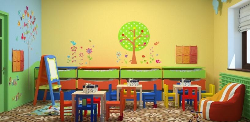 В Омске в новом детском саду осыпалась штукатурка