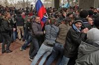 В Крыму начались драки за отделение от Украины