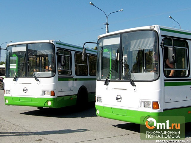 Омичам разрешили покататься на новых автобусах