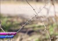 На границе России и Украины начали устанавливать колючую проволоку