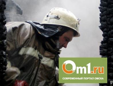 В Омской области ночью сгорел сельский магазин