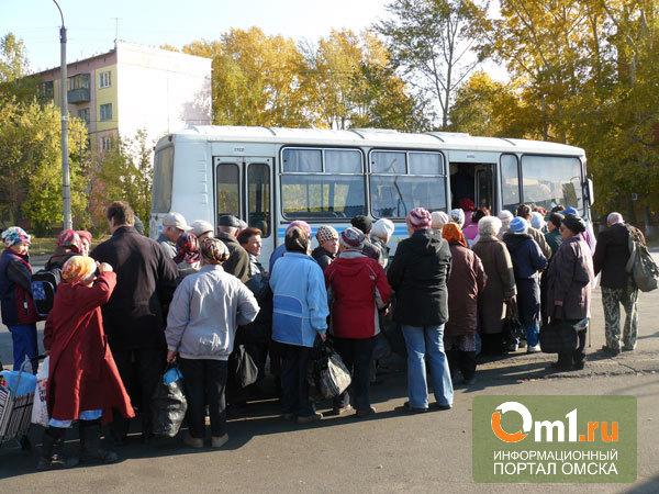 Садовые автобусы начнут возить омичей на дачи с 1 мая